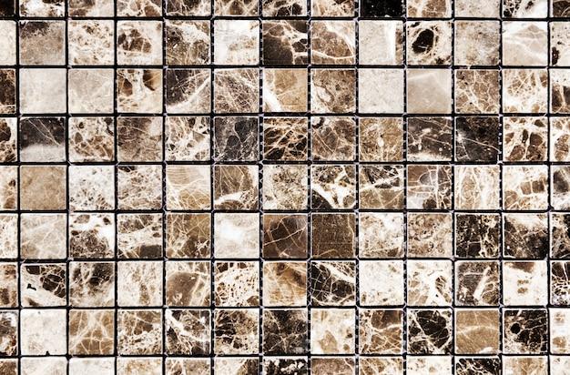 Mur de marbre motif grille marron et blanc Photo gratuit