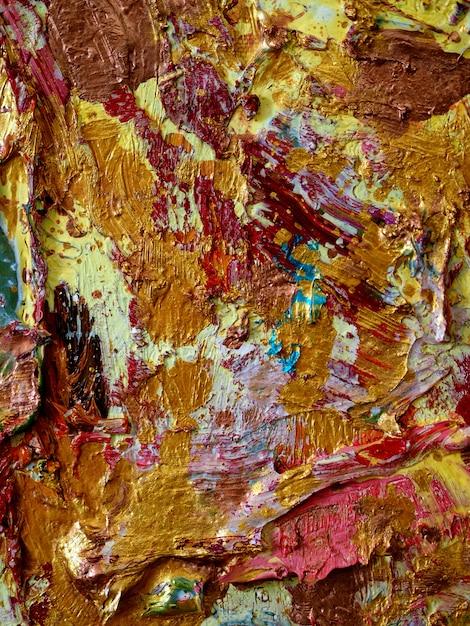 Mur D'or Fond Coloré Et Texturé. Photo Premium