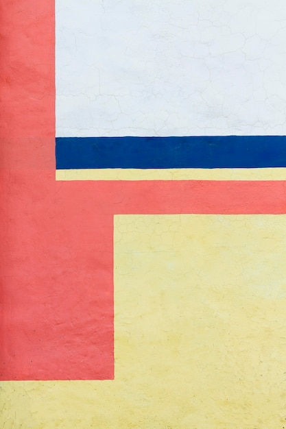Mur Peint Vintage En Trois Couleurs Photo gratuit