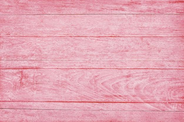 Mur De Planche De Bois Rose, Texture De Bois D'écorce Avec Vieux Motif Naturel. Photo Premium