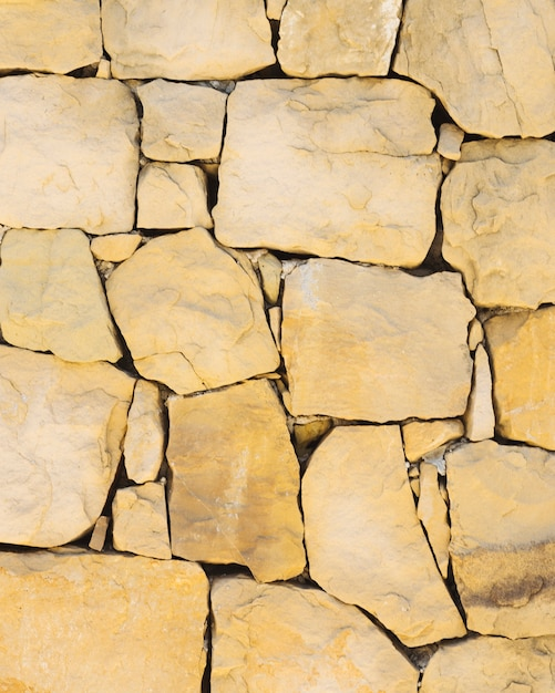 Mur de roche brun naturel Photo gratuit