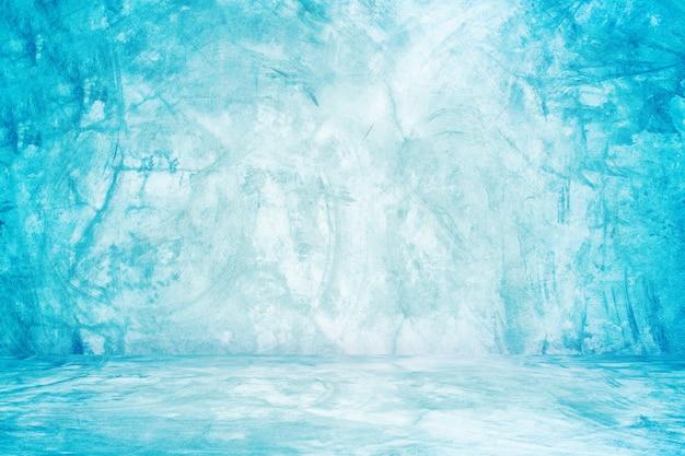 Mur de studio bleu de ciment et fond d'exposition pour le produit de présentation Photo Premium