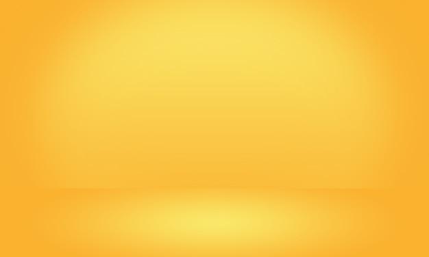 Mur de studio dégradé jaune luxe abstrait or, bien utiliser comme arrière-plan Photo Premium