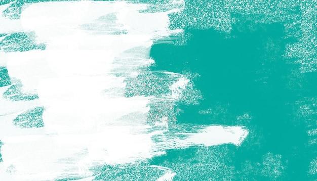Mur Vert Avec Fond De Pinceau Blanc Photo gratuit