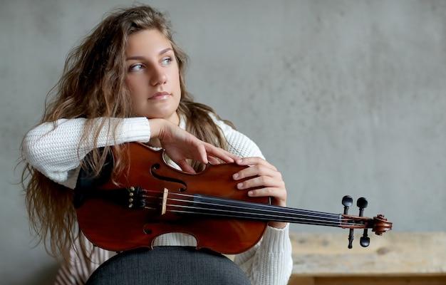 Musicien Avec Violon Photo gratuit