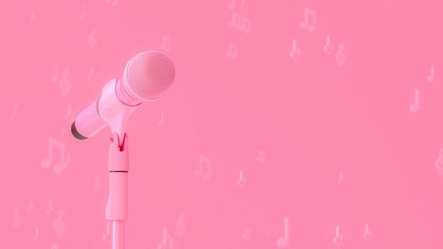 Musique microphone rose Photo Premium