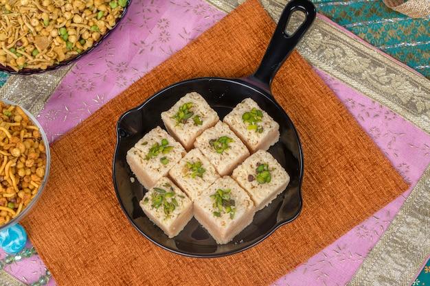 Mysoor pak sweet food Photo Premium