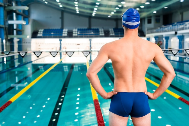 Nageur, regarder, piscine Photo gratuit