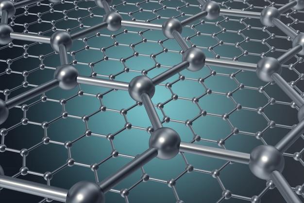 Nanotechnologie abstraite forme géométrique hexagonal gros plan Photo Premium