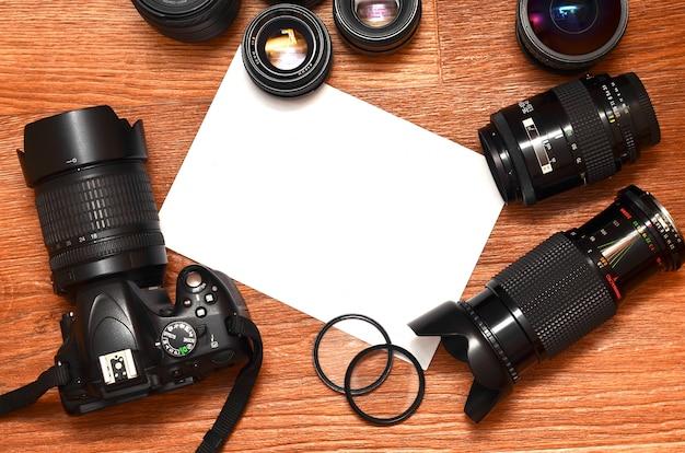 Nature morte avec kit photocamera numérique Photo Premium