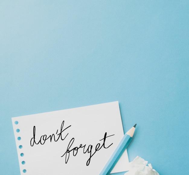 Ne pas oublier les notes Photo gratuit