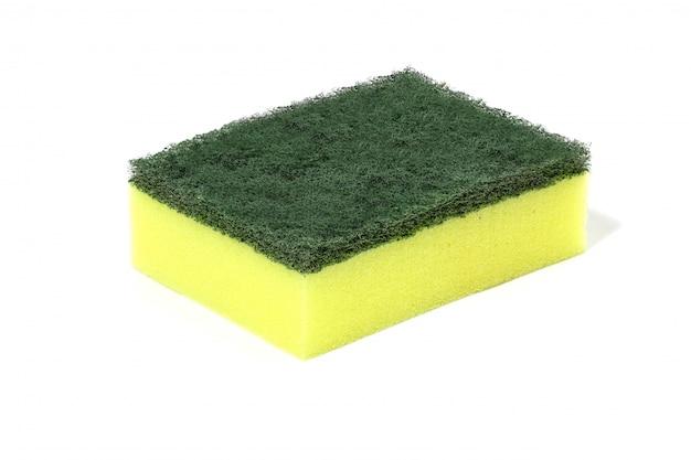 Nettoyants de laine de fibres de nylon vert, détergents, éponge de nettoyage domestique pour le nettoyage Photo Premium