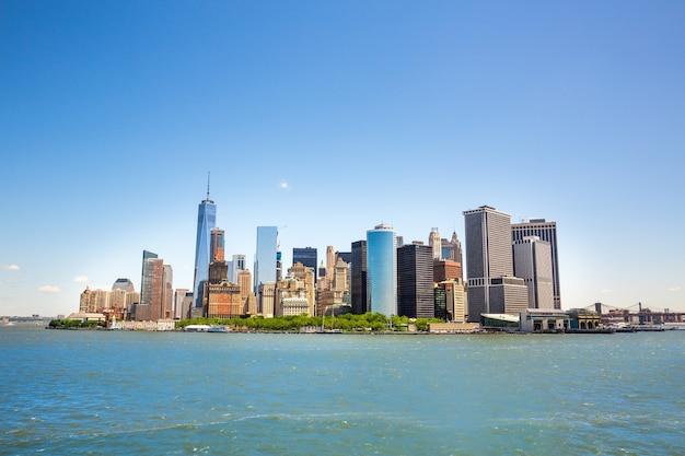 New York City Manhattan Midtown Vue Sur Hudson Photo Premium