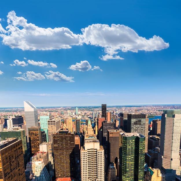 New york manhattan antenne est et brooklyn Photo Premium