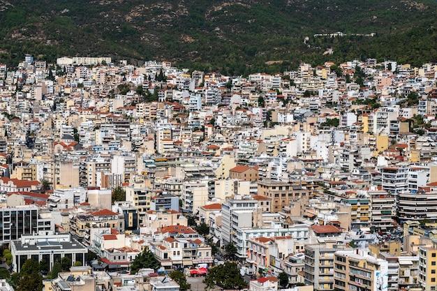 Niveaux De Plusieurs Bâtiments Résidentiels Et D'état à Kavala, Grèce Photo gratuit