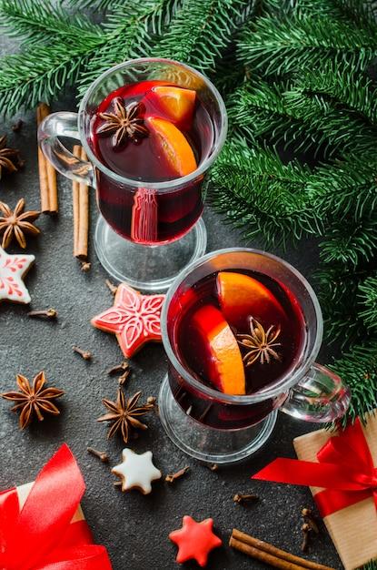 Noël au vin chaud Photo Premium