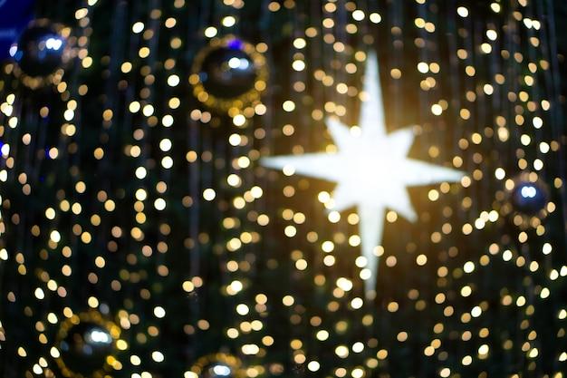 Noël flou de paillettes de bokeh, vacances de noël. Photo Premium