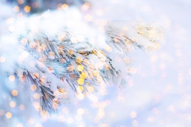 Noël ou nouvel an flou fond abstrait Photo Premium