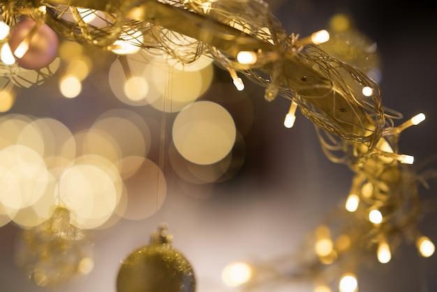 Noël or lumière Photo Premium