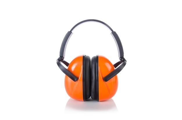 Noice annulation des écouteurs isolés sur le blanc Photo Premium