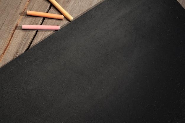 Noir et craies Photo Premium