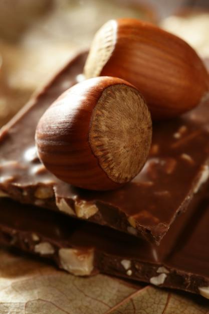 Noisettes et chocolat Photo Premium