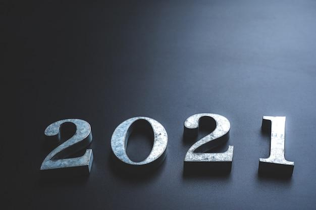 Le Nombre 2021, Nouvel An Photo Premium