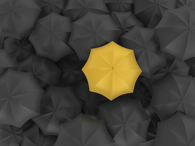 De Nombreux Parapluies Avec Un Différent Photo Premium