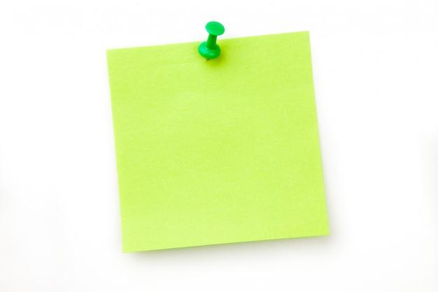 Note adhésive épinglé vert Photo Premium