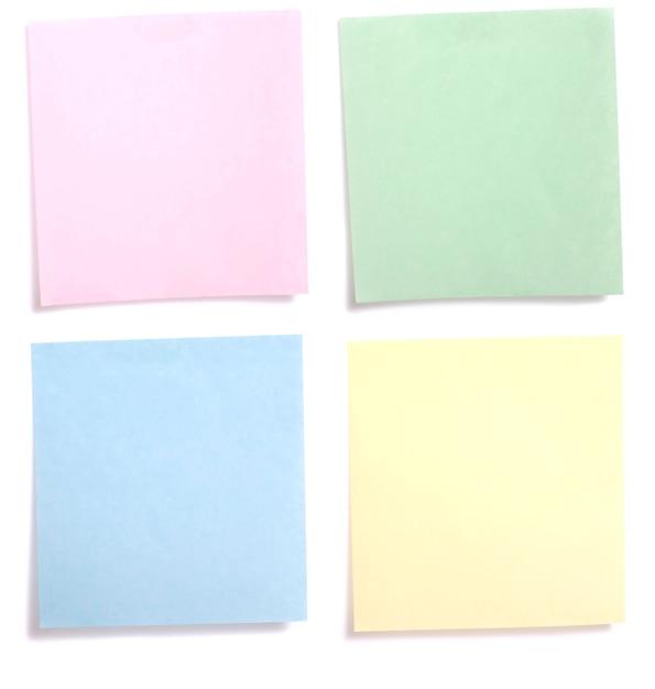 Note de papier coloré Photo Premium