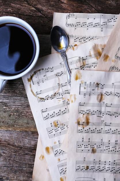 Notes De Musique Ancienne Photo gratuit