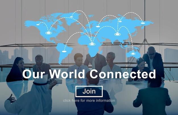 Notre Concept D'interconnexion De Réseaux Sociaux Connectés Au Monde Photo gratuit