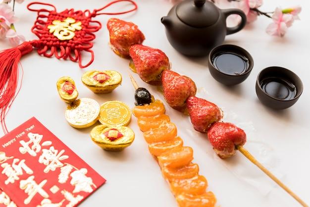 Nourriture pour le nouvel an chinois Photo gratuit