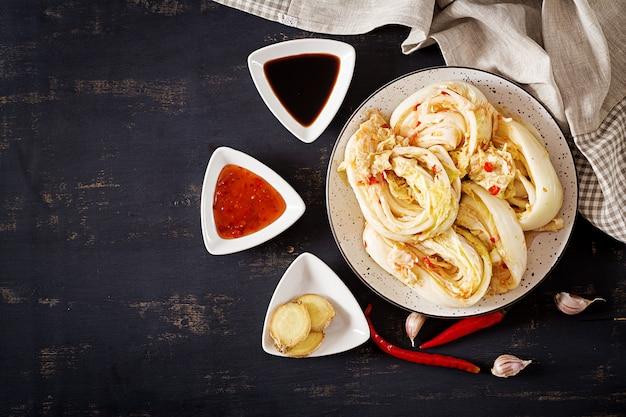 Nourriture traditionnelle coréenne. Photo Premium
