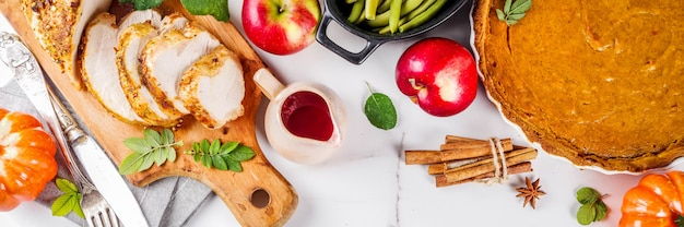 Nourriture de vacances de thanksgiving Photo Premium