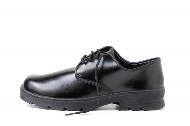 Nouveau cuir étudiant chaussures isolées Photo Premium