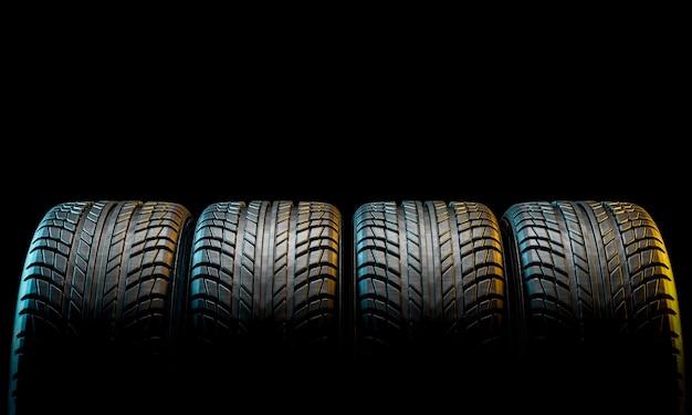 Nouveau pneu de voiture Photo Premium