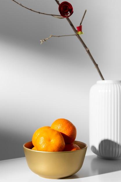 Nouvel An Chinois 2021 Orange Et Fleur Photo gratuit