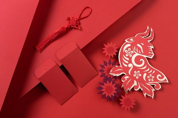 Nouvel An Chinois Avec Concept De Boeuf Photo gratuit