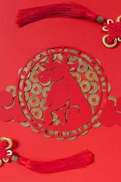 Nouvel An Chinois Avec Concept De Boeuf Photo Premium