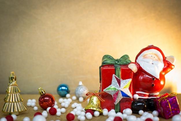 Nouvel an et fond de joyeux noël Photo Premium