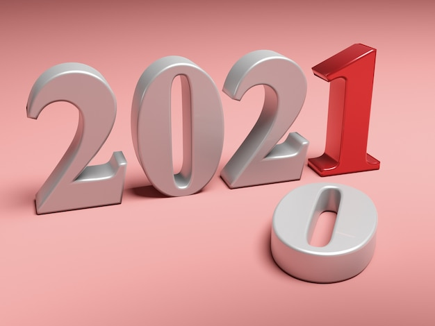 La Nouvelle Année 2021 Remplace L'ancienne 2020 Photo Premium