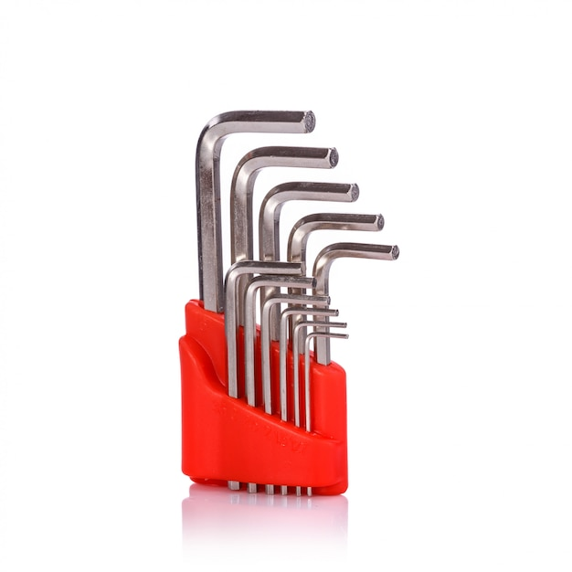 Nouvelle clé à six côtés. Photo Premium