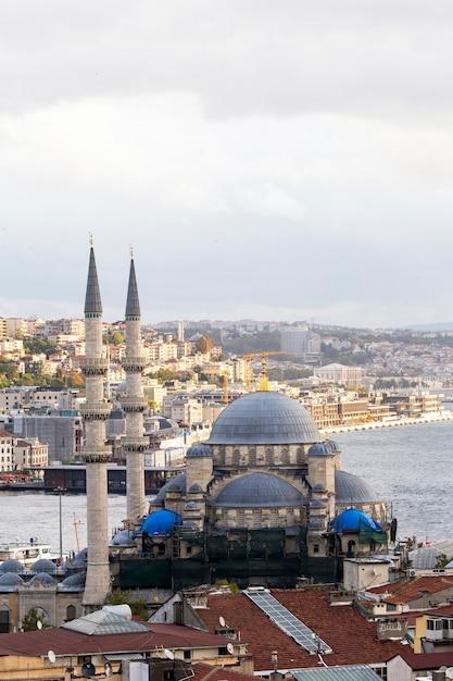 Nouvelle Mosquée Avec Détroit Du Bosphore Et Ville, Istanbul, Turquie Photo Premium