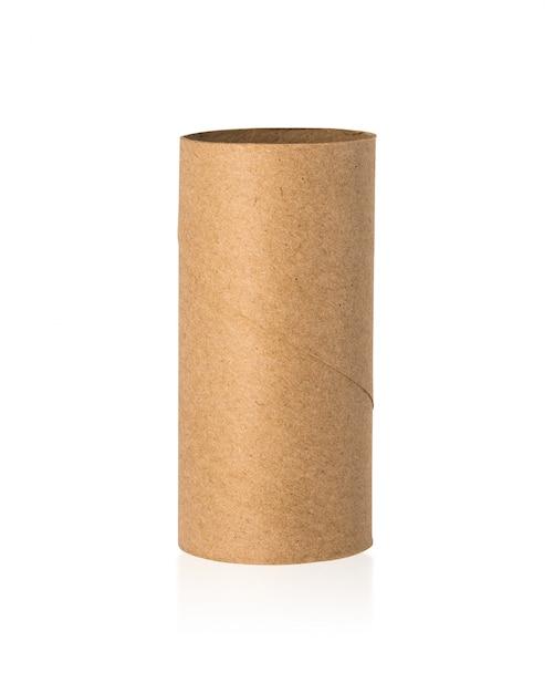 Noyau des tissus bruns isolé sur fond blanc Photo Premium