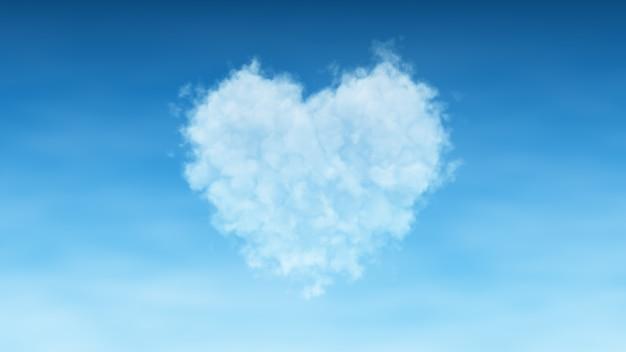 Nuage de coeur sur ciel Photo Premium