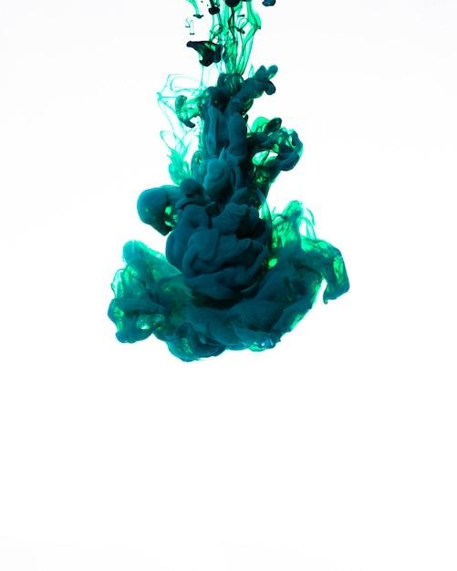 Nuage d'encre bleue tourbillonnante en mouvement Photo gratuit
