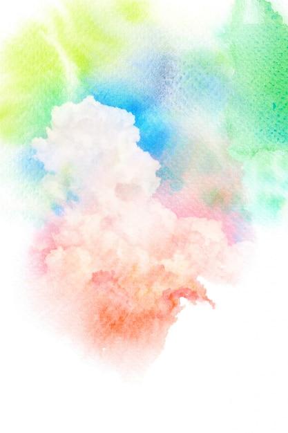 Nuages Aquarelles Colorés Photo Premium