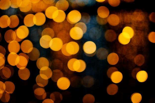 Nuit des lumières floues Photo Premium
