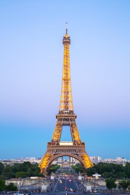 Nuit Tour Eiffel Photo Premium